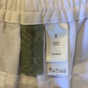 Soft Surroundings Pants - 🎀Soft SurroundingsWht. Linen Culottes Like New🎀